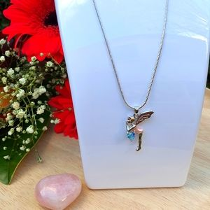 Child's Silver Fairy Necklace